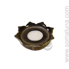 Lotus Stone Tea Light Candle Holder