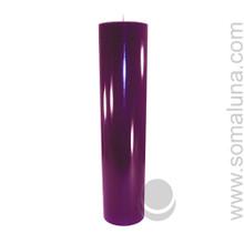 Velvet Eggplant 12.5 x 3 Pillar Candle