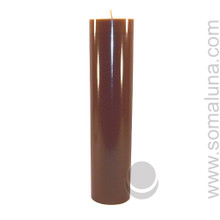 Autumn Brown 12.5 x 3 Pillar Candle