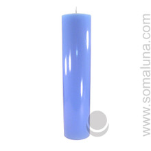 Morning Blue 12.5 x 3 Pillar Candle