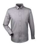 Harriton Men's  Long-Sleeve Twill Shirt