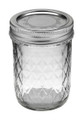 Quilted Crystal Ball Jar 8 oz
