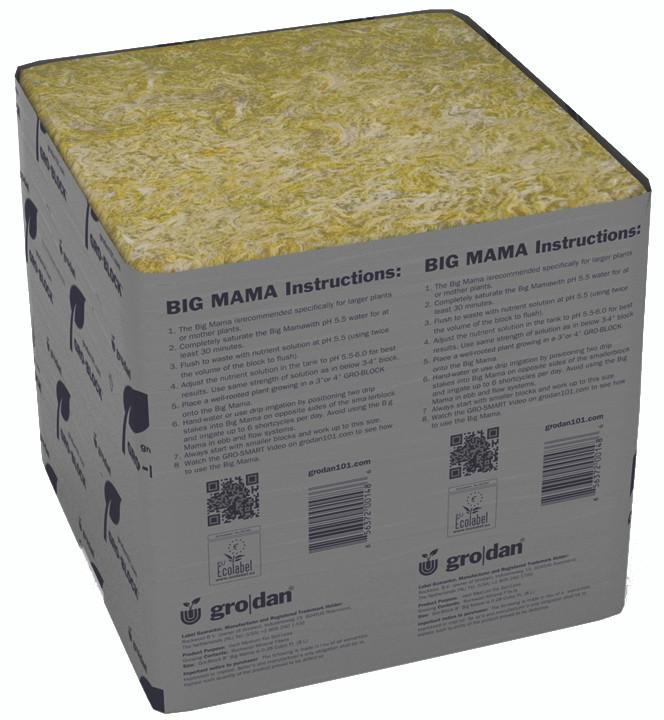 "Grodan Rockwool Cubes Grow Blocks 3/"" Large Hole X8 Hydroponics"