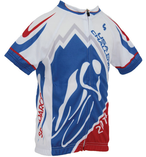 Spin2 Kids Official USA Pro Challenge Cycling Jersey front