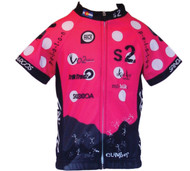 Spin2 Kids Pink Climbers Cycling Jersey