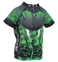 Spin2 Kids Green Viper Cycling Jersey