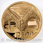 Zebra Gold Coin 2013