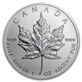 Canadian Silver Maple Leaf 1 Oz - Sample Image.