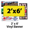 2' x 6' Full Color Vinyl Banner