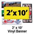 2' x 10' Full Color Vinyl Banner
