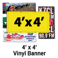 4' x 4' Full Color Vinyl Banner