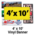 4' x 10' Full Color Vinyl Banner