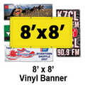 8' x 8' Full Color Vinyl Banner