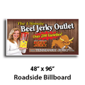 "48"" X 96"" Full Color Roadside Billboard"