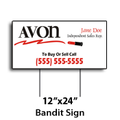 "12"" x 24"" Full Color Bandit Signs"