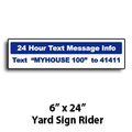 "6"" x 24"" Yard Sign Rider"