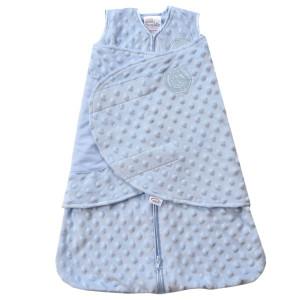 Blue Plush Dot Velboa SleepSack® Swaddle