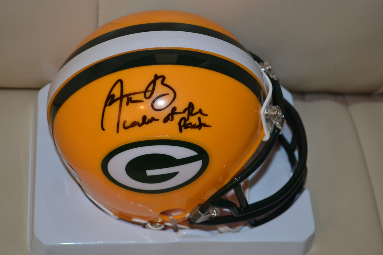 59bdba137 Aaron Rodgers Authentic Autographed Green Bay Packers Mini Helmet with  inscription