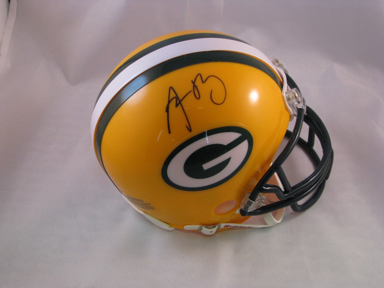 6fea13987 ... Aaron Rodgers Authentic Autographed Green Bay Packers Mini Helmet.  Image 1. Loading zoom
