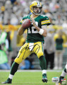 "Aaron Rodgers Green Bay Packers Authentic Autographed 8"" x 10"" Passing Photograph"