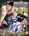 Ryan Braun signed 8x10 photo MVP Collage