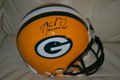 "Aaron Rodgers Authentic Autographed Green Bay Packers Proline Helmet with ""2011, 2014 MVP"" Inscription AND #12!"
