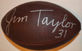 Jim Taylor Autographed Official NFL Duke Football