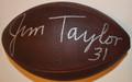 Jim Taylor Autographed Official NFL Duke Football