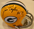 "Jim Taylor Autographed Official Packer TK Suspension Helmet with HOF '76 Inscription and ""#31"" (style 1)"