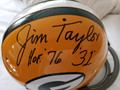 "Jim Taylor Autographed Official Packer TK Suspension Helmet with HOF '76 Inscription and ""#31"" (style 2)"