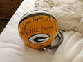 "**RARE**EXCLUSIVE Jim Taylor Autographed Official Packer TK Suspension Helmet with one-of-a-kind Triple Inscription and ""#31"" (only 1 available)"