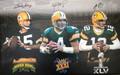 Green Bay Packers 3-Super Bowl Winning Quarterbacks Signed Canvas (last one left)