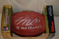 Jordy Nelson Authentic Autographed Official NFL Football with FREE Inscription SB XLV CHAMPS