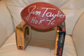 Jim Taylor signed authentic NFL Football with Hall of Fame inscription