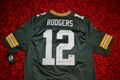 Beautiful Aaron Rodgers Autographed Official NFL Nike Limited Jersey with Multiple Inscriptions and his #12