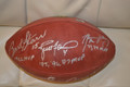 **Limited-Time Super Discount** The VERY Rare (12 exist) 5MVP Signed Green Bay Packers Official NFL Football Signed by Paul Hornung, Jim Taylor, Bart Starr, Brett Favre, and Aaron Rodgers