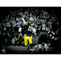"Aaron Rodgers Green Bay Packers Authentic Autographed 11"" x 14"" Spotlight Photograph"