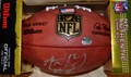 "Aaron Rodgers Green Bay Packers Autographed Duke Pro Football with ""Leader of the Pack"" Inscription (and his #12)"