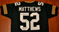 Clay Matthews Autographed Jersey with Double Inscription of SB XLV CHAMPS and BIG PLAY CLAY (only 1 left)