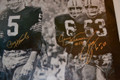 "Classic ""Mud Bowl"" 24x36 Canvas Autographed by Paul Hornung, Jerry Kramer, and Fuzzy Thurston"