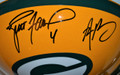 **Limited-Time Super Discount** Brett Favre and Aaron Rodgers Dual-Signed Authentic Green Bay Packers Proline Helmet (only 2 left!)