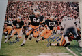 Classic 16x20 Color Photo of the Legendary PACKER SWEEP Autographed by Paul Hornung, Jerry Kramer, and Fuzzy Thurston