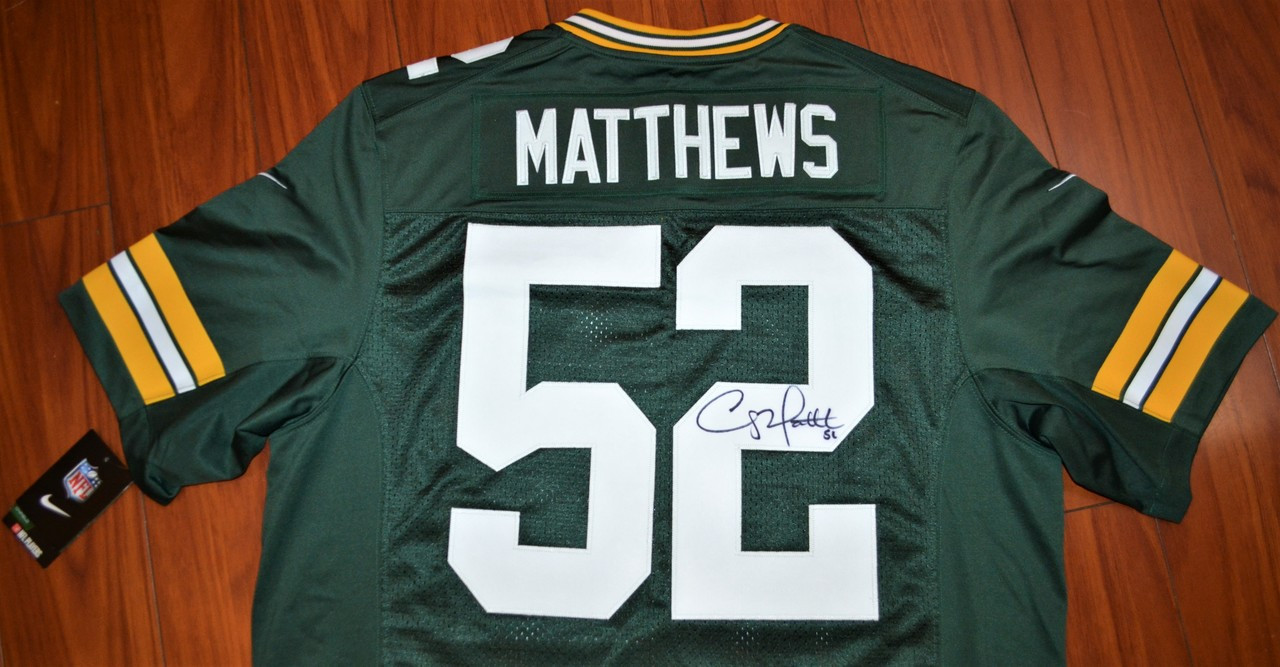 brand new f38dc 5b0c4 Clay Matthews Autographed Official NFL Nike