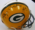 **Only 1 Left** Bart Starr, Brett Favre, and Aaron Rodgers Authentic Autographed Proline Green Bay Packers Helmet