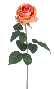 Real Touch English Rose Full Bloom - Peach