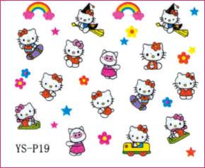 3d Nail Sticker Hello Kitty Ys P19 Diamond Nail Supply Llc