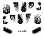 3D Nail Sticker-Feather #YS-G15