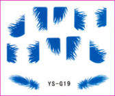 3D Nail Sticker-Feather #YS-G19