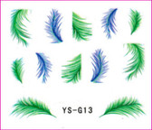 3D Nail Sticker-Feather #YS-G13