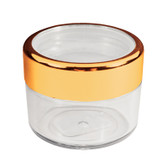Twist Cap Jar with Gold Rim - 18ml/.61 oz.